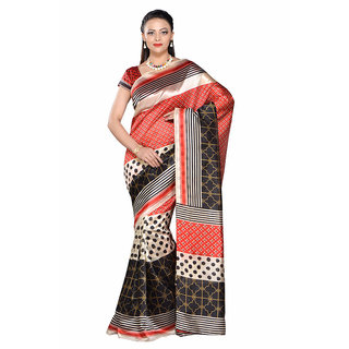 a6d656edd Buy Ishin Multicolor Art Silk Printed Saree With Blouse Online - Get ...