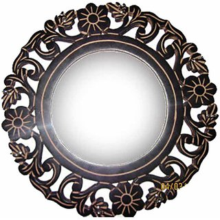 Beautifully Carved Mirror Frame Cum Key Hanger
