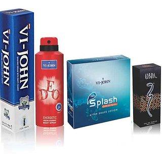 Regular Shaving Cream, ASL Splash & VI-JOHN Deo Energetic + Cobra Perfume 15ml
