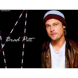 MYIMAGE Hollywood Star Brad Pitt Digital Printing  Poster (12.0 inch x 18.0 inch)