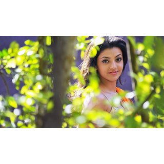 MYIMAGE South Actress Kajal Aggarwal Digital Printing  Poster (12.0 inch x 18.0 inch)