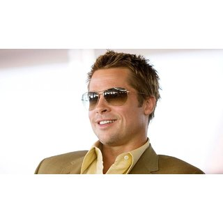 MYIMAGE Hollywood Star Brad Pitt Digital Printing  Poster (12.0 inch x 18.0 inch)