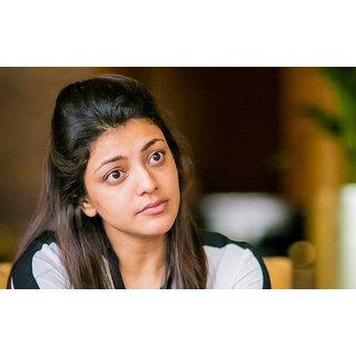MYIMAGE South Actress Kajal Aggarwal Digital Printing  Poster (12.0 inch x 18.0 inch)