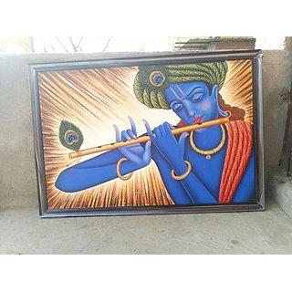 Handmade Krishna Lord Painting For Wall