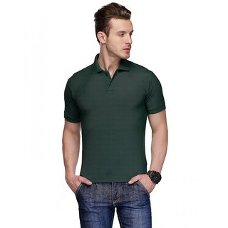 Concepts Dark Green Cotton Blend Polo Tshirt