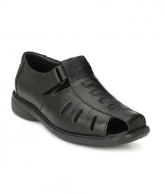 MEN Black Leather SANDALS