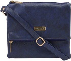 ESBEDA Dark Blue Color Solid Drymilk Slingbag For Women