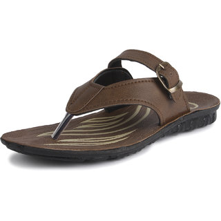 Tempo Men'S Michel Mos Brown Buckle Sandals