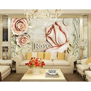 3D Flowers Wall Decor Wallpapers