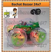 BEN 10 RECHARGEABLE REMOTE CONTROL BATTERY OPERATED STUNT CAR 360