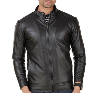 Leather Retail Black Leather Biker  Jacket