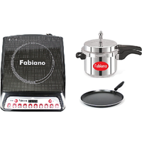 Fabiano Fabulous Induction Cookware set- Induction cooktop Induction base 3L pressure cooker with Free Induction tawa