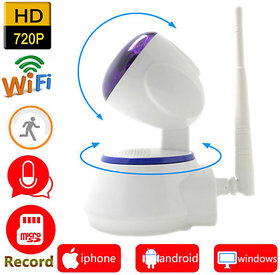 Single HD Wifi IP Camera With SD Card Slot  Pan Tilt Wi