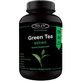 Sinew Nutrition Green Tea Extract 700 mg (60 Pure Veg Capsules), Pure Natural Weight Management