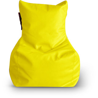 Home Story Chair Bean Bag L Size Yellow Color Cover Only