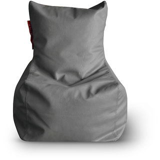 Home Story Chair Bean Bag L Size Grey Color Cover Only