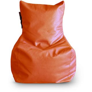 Home Story Chair Bean Bag L Size Orange Color Cover Only