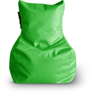 Home Story Chair Bean Bag L Size Green Color Cover Only
