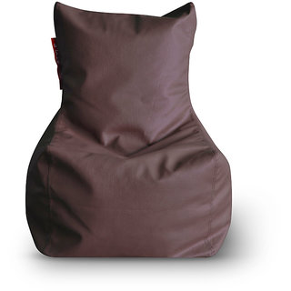 Home Story Chair Bean Bag L Size Brown Color Cover Only