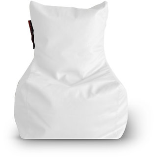 Home Story Chair Bean Bag L Size White Color Cover Only