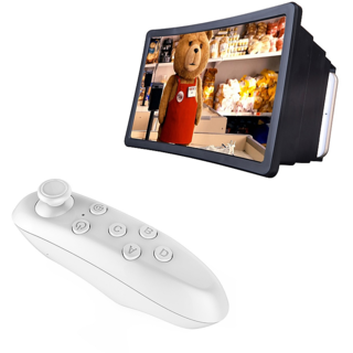 De-TechInn Combo OF 3D Enlarge Screen Expander F2 Screen With VR Bluetooth Remote Controller