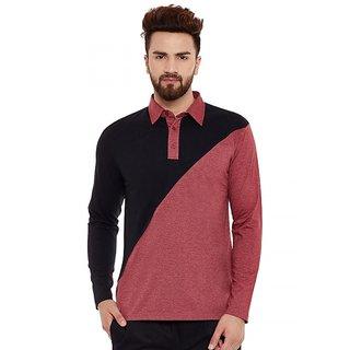 Hypernation Solid Men's Polo Neck T-shirt