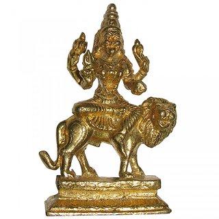 Sri Pratyangira Devi Prathyangira Narasimhi Narashimhika Brass Idol - A4453