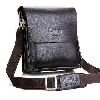 01e773c7b8c Buy Pu Leather Polo Messenger Bag High Quality Men Casual Shoulder ...