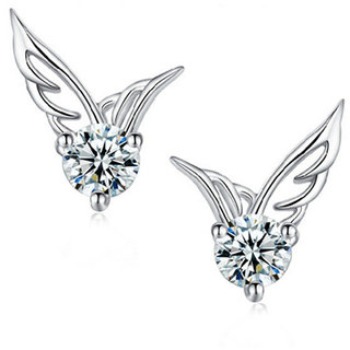 Stylish S High Quality Cz Fashion Earring Angel Wings For Women Stud Earrings