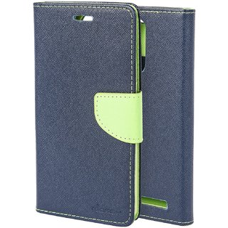 Mercury Diary Wallet Style Flip Cover Case For Lenovo Vibe K6 Power - BLUE GREEN by Mobimon