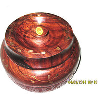 Handmade Wooden Box With Brass Inlay Beautifully Carved Wooden Box