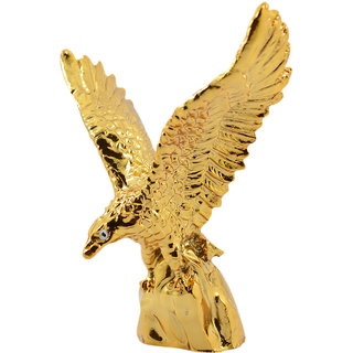 Reiki Crystal Products Vastu Feng Shui Flying Golden Eagle Spreading Wings  For Wealth Success Showpiece