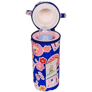 BABY LOV Bunny Print Assorted Single Portable Infant Feeding Milk Food Bottle Thermal Warmer Bag Storage Holder (Upto 25