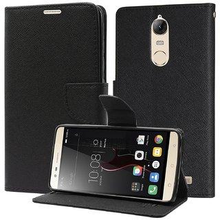 Mercury Diary Wallet Style Flip Cover Case For Lenovo Vibe K5 Note - BLACK by Mobimon