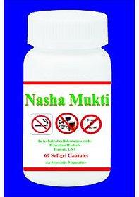 Hawaiian Herbal, Hawaii,USA - NASHA MUKTI SOFTGEL - 60 Softgel (Buy any Healthcare Supplement  Get the Same Drops Free)