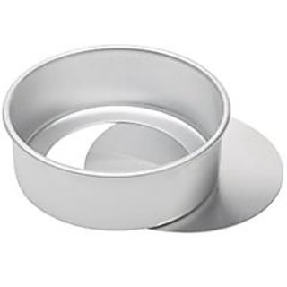 Aluminium Round Cake Mould - Loose / Removable Bottom - 6 Inches for Baking approx half kg cake