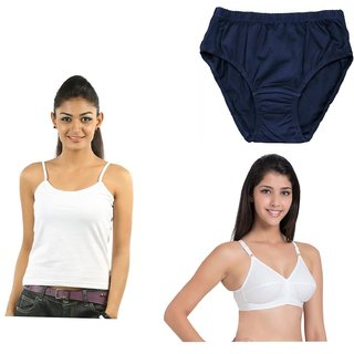 Women combo camisole / bra / and pantie Set for 3 ( combo pack color may very )