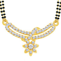 Gold Plated Multicolor Alloy Mangalsutra For Women