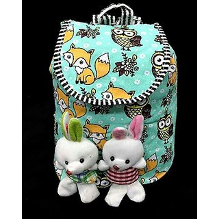 Girls's backpack bunny bag in Green color