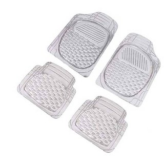 A2D Premium Exclusive Transparent White Car Floor / Foot Mats - Chevrolet Enjoy