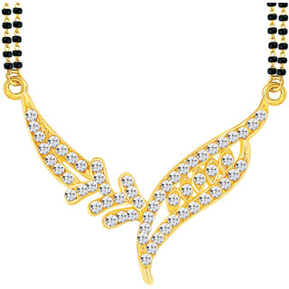Sikka Golden Alloy Gold Plated Only Mangalsutra For Women