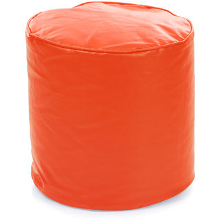 Home Story Round Ottoman L Size Orange Cover Only