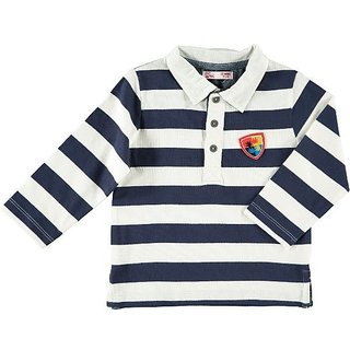 Boys Collar Stripe Tshirt