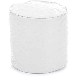 Home Story Round Ottoman Medium Size White Cover Only