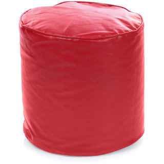 Home Story Round Ottoman L Size Red Cover Only