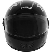Saviour Royal Pro Helmet- Black Slvr