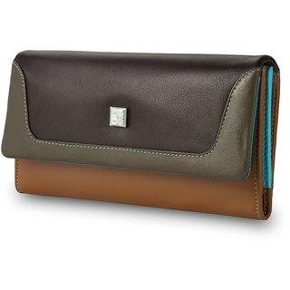 413905a5f7de Buy DuDu - Women s leather Wallets - Stylish Purse - Colorful Colection -  Elba - Dark Brown Online   ₹4792 from ShopClues