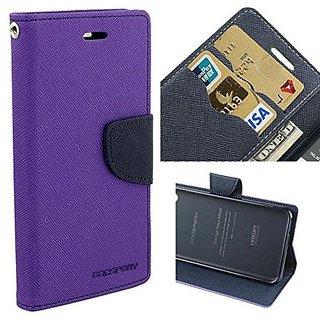 MERCURY GOOSPERY Fancy Wallet Dairy Flip Case Cover For OPPO A-37 Purple by Brand Fuson