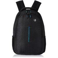 HP Blue Line Black Polyster Backpack