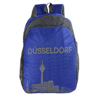 The Blue Pink Blue Zip Closure Backpack